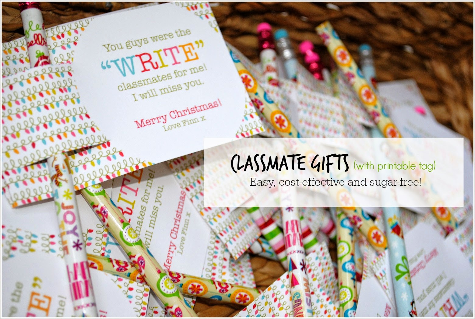 A Little Bit of Quiet: Classmate Gift with FREE printable tag