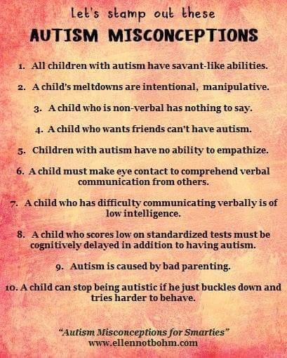 salah faham tentang autism