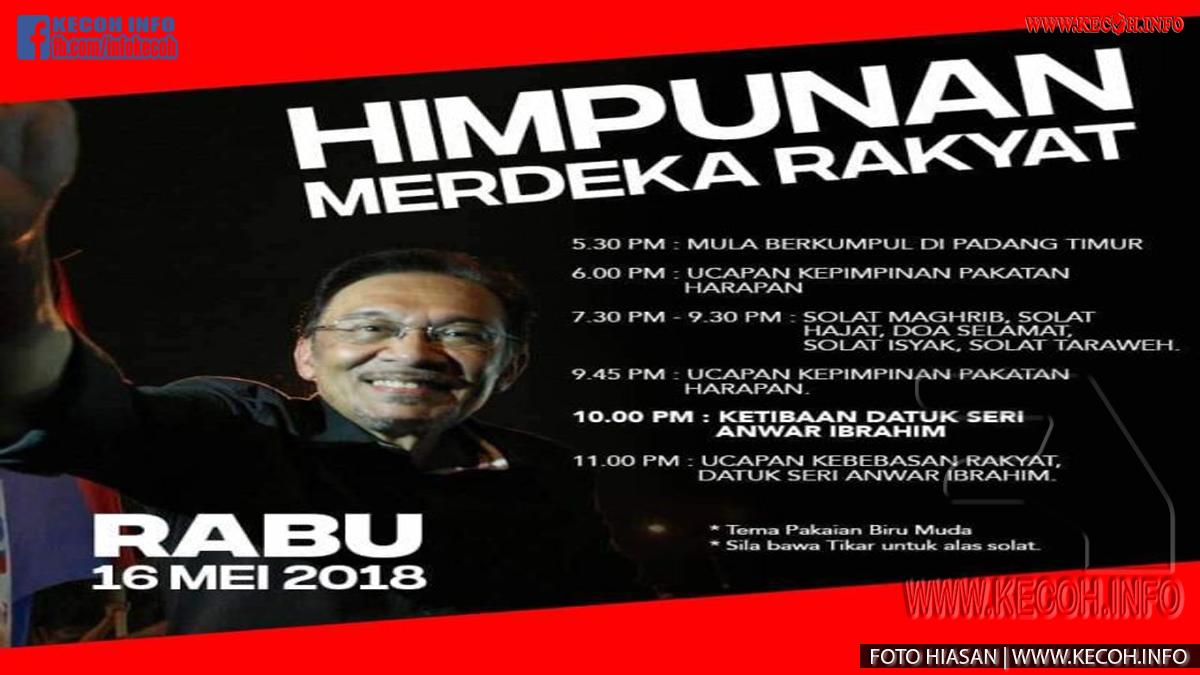 Anwar Akan Dibebaskan Tengahari Esok Dan Akan Bertemu Penyokong Di Padang Timur Malam Esok