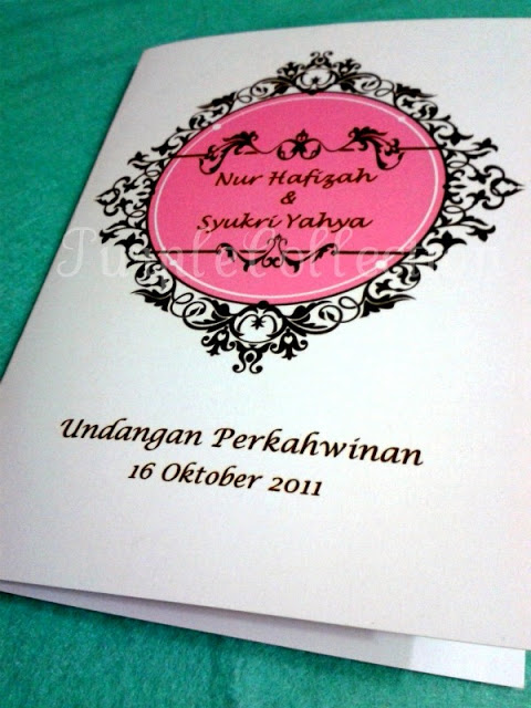 Floral Frame Card Undangan Perkahwinan, wedding invitation card, malay invitation card, floral card, frama card, wedding card
