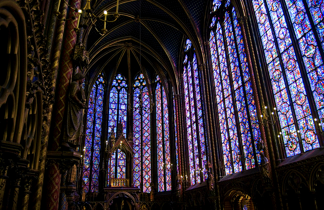 The Sainte-Chapelle is a gothic style church