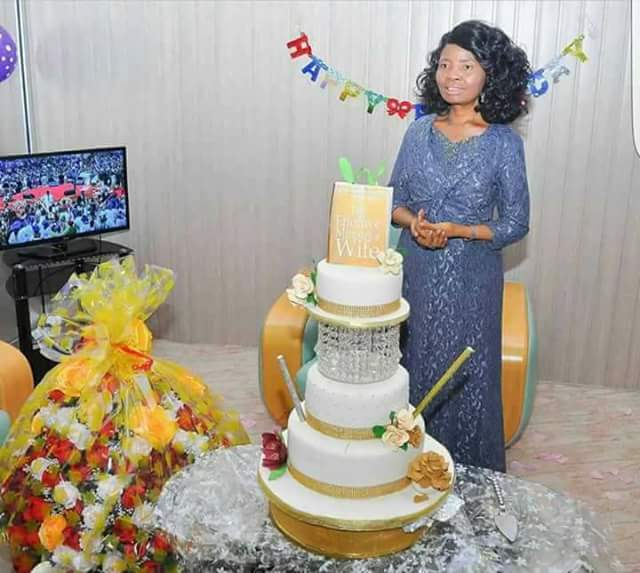 Check Out Bishop Oyedepos Wife 56th Birthday Cake Photos