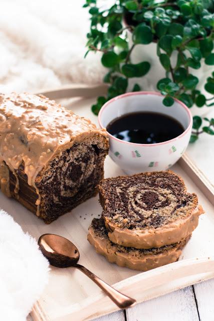 Cake marbré au café et chocolat