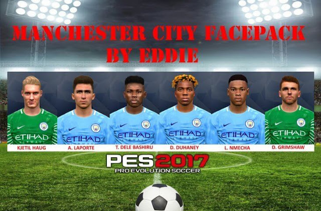 Manchester City Facepack PES 2017