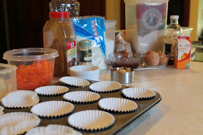 Making Morning Glory Muffins