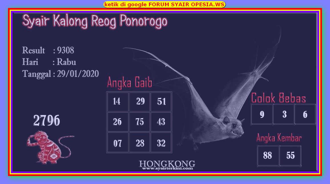 Kode syair Hongkong Rabu 29 Januari 2020 96