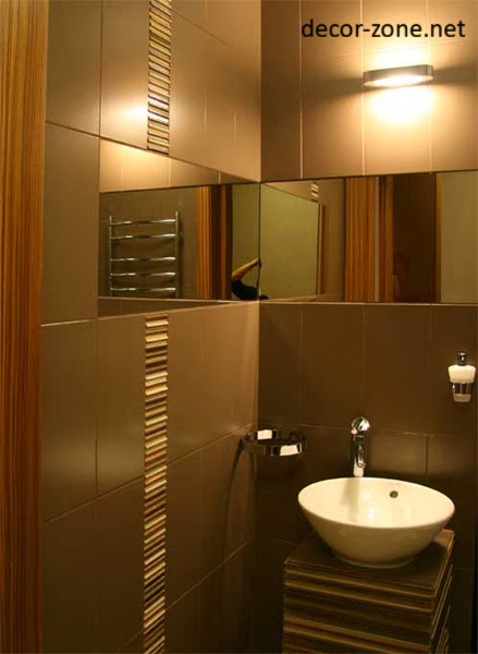 modern bathroom design ideas in a brown color