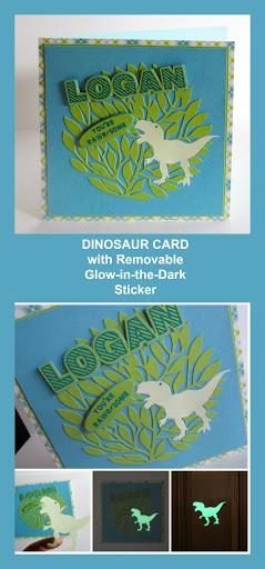 #dinosaur card #dinosaur #kidscard  #silhouette #silhouetteuk #silhouettecameo