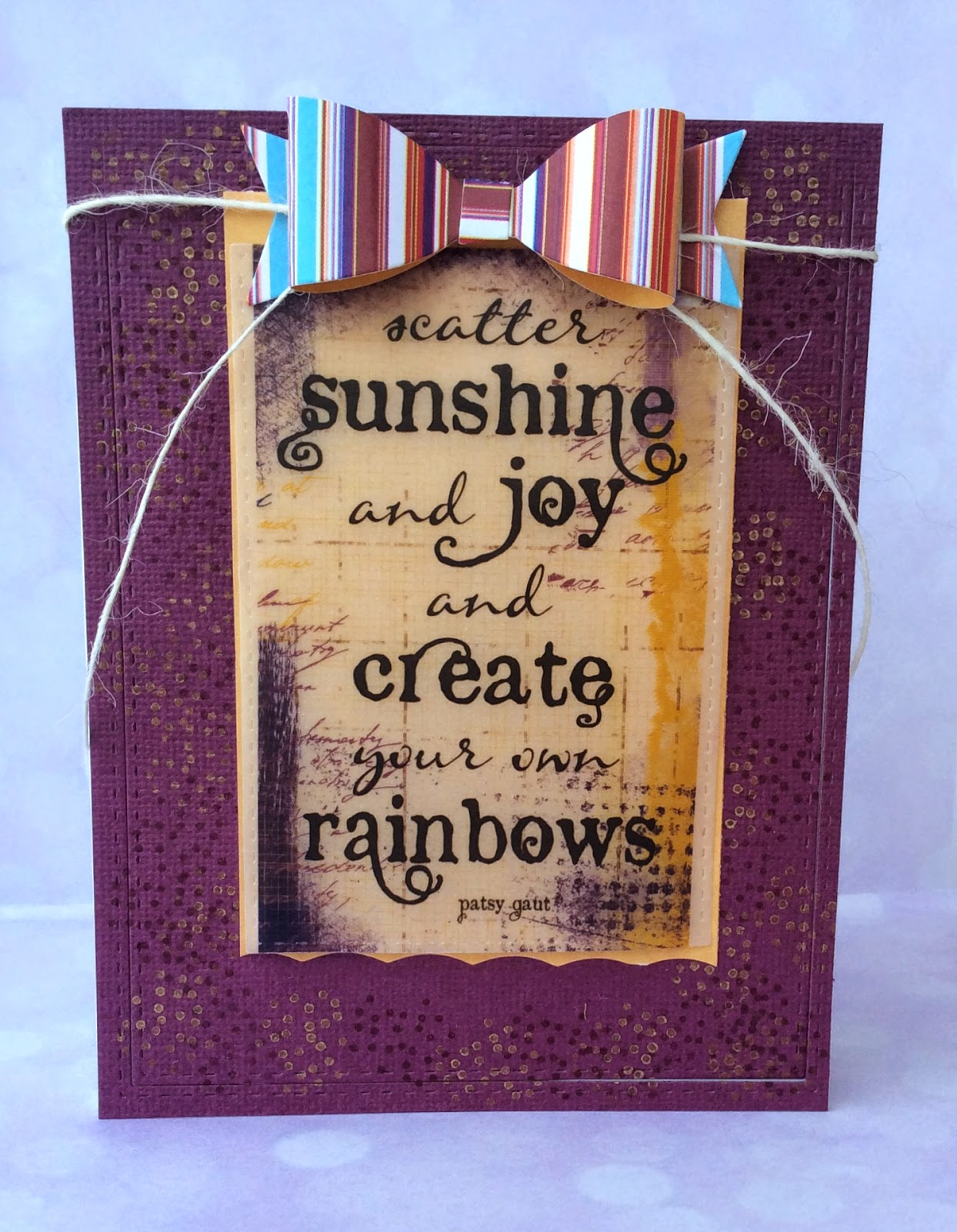 Scatter Sunshine Card for Quick Quotes by Crystal Thompson