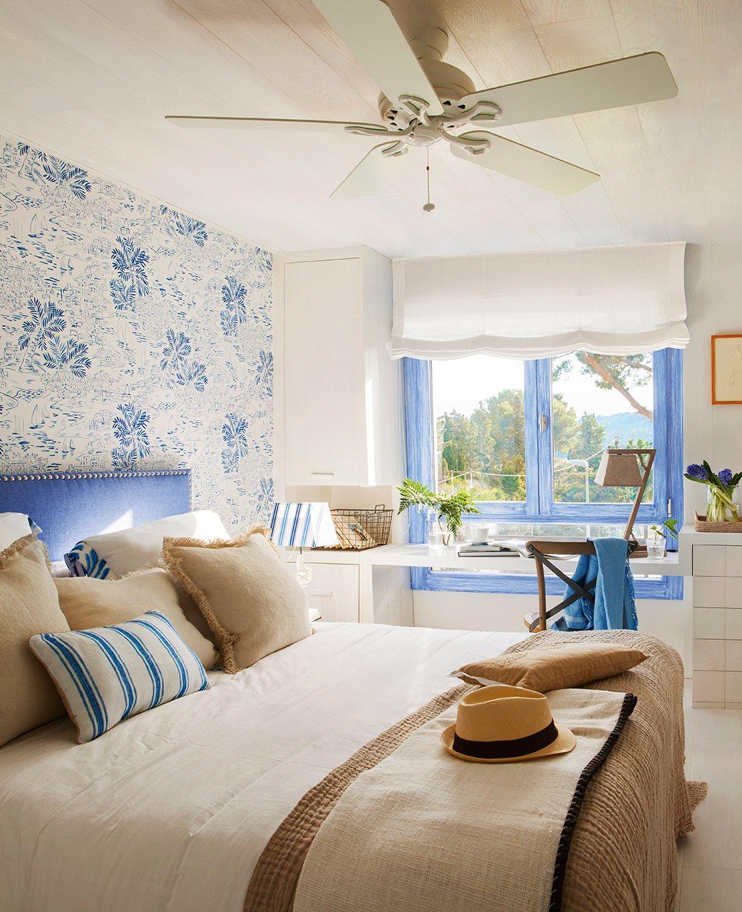 Decordemon When The Summer Is Blue ~ Papel Pintado Dormitorio Blanco
