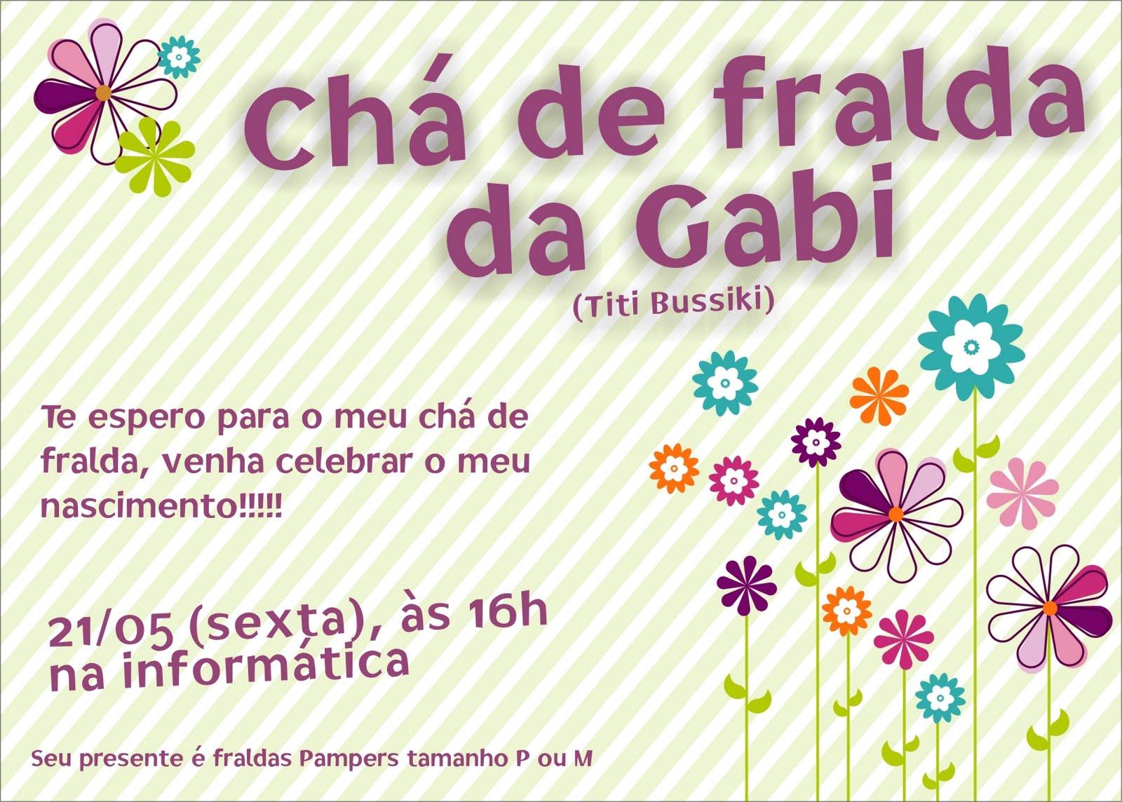 Mensagem De Convite De Cha De Fralda: Convites Para Chá De Bebê Ou De Fraldas
