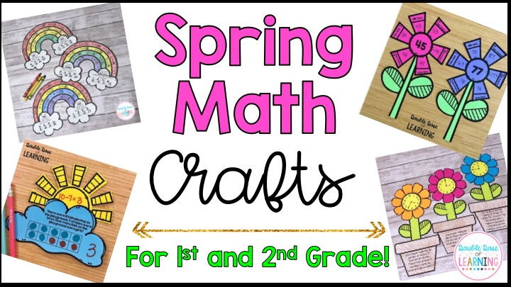 Double Dose Of Learning Spring Math Crafts For First And Second Grade