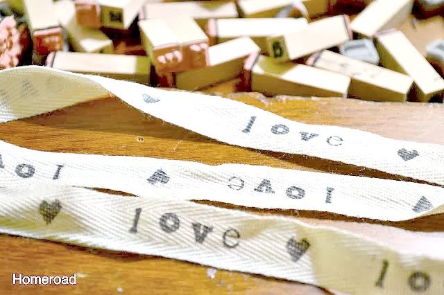 Love ribbon strips