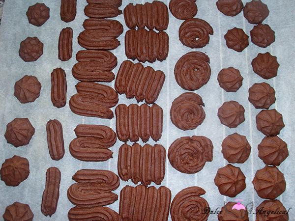 Receta de las galletas vianesas de chocolate