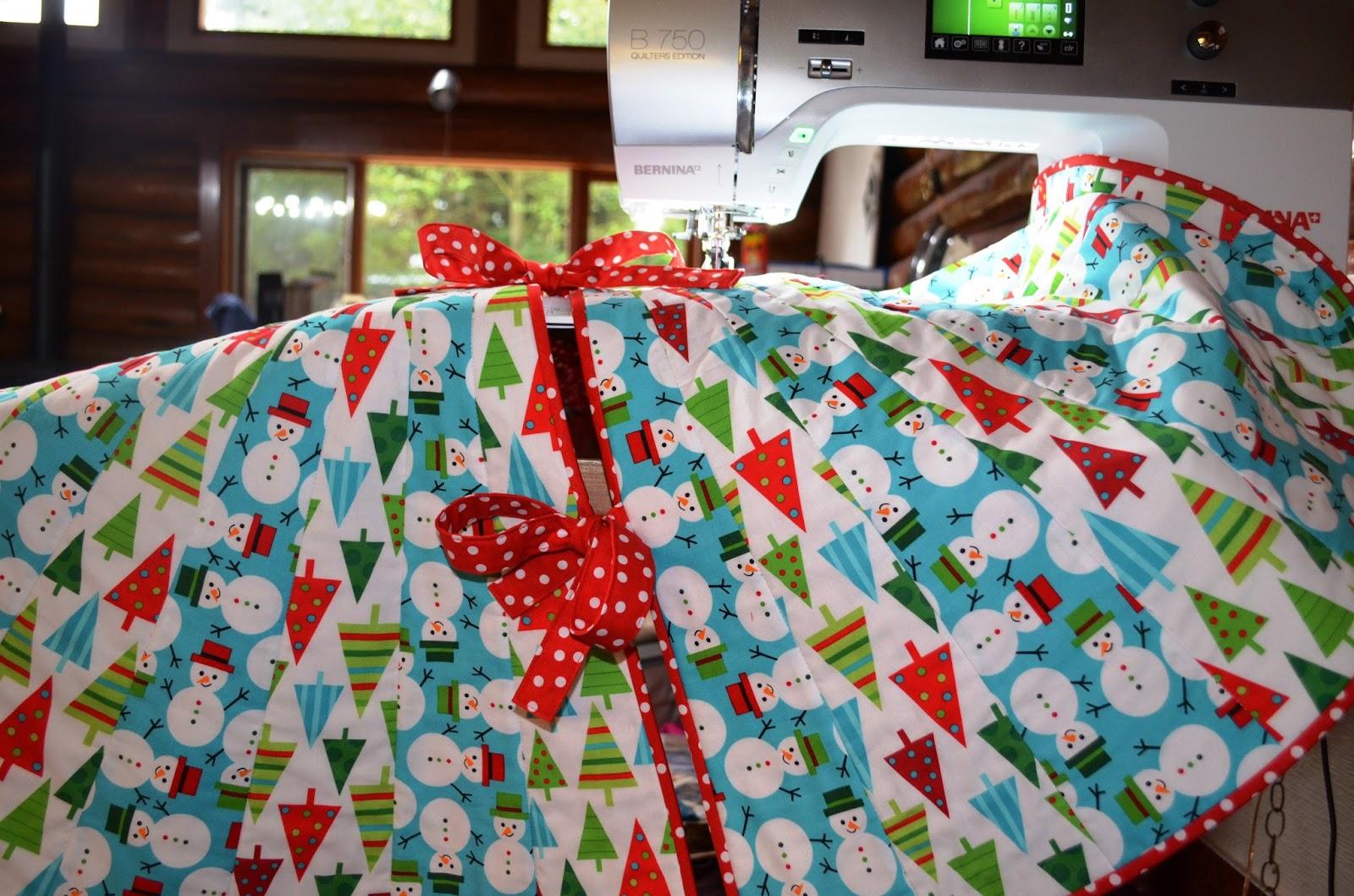 As the Spool Turns: A Fun Christmas Tree Skirt