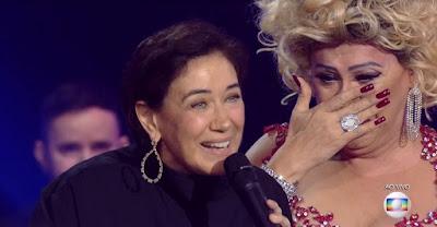 Nany People fica surpresa com a presença de Lilia Cabral no 'Popstar' — Foto: TV Globo