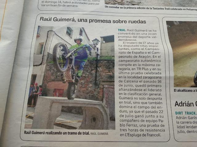 Una promesa sobre ruedas, Raúl Guimerá Gasulla
