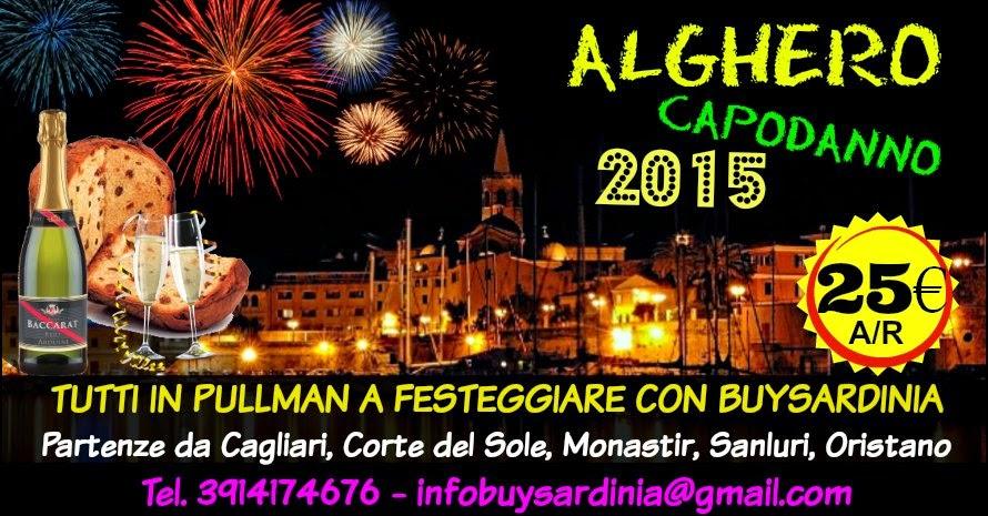 CAPODANNO 2015 AD ALGHERO: TUTTI IN PULLMAN A FESTEGGIARE CON BUYSARDINIA