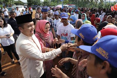 Ridho dan Yustin Disambut Meriah Oleh Ribuan Warga Kecamatan Bulok
