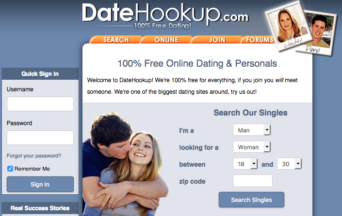 free hookup website