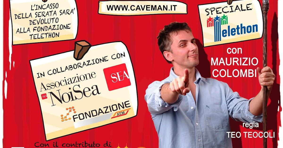 Caveman per TELETHON: grande appuntamento il 6 dicembre agli Arcimboldi di Milano