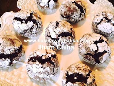 حلوة المشقوق بالشوكولاتة Craquelés au chocolat