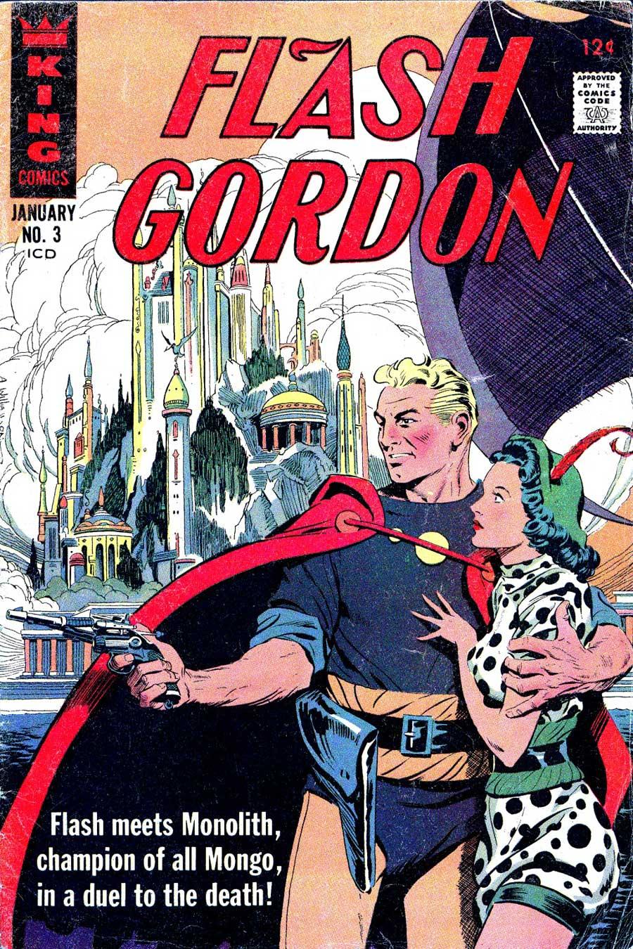 Flash Gordon v4 #3 1960s silver age science fiction comic book cover art by Al Williamson
