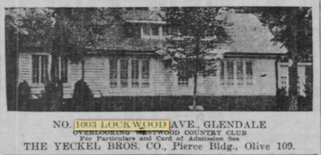 newspaper advertisement 1925 St. Louis Star and Times, for sale of 1003 Lockwood Avenue, St Louis, MO 63122