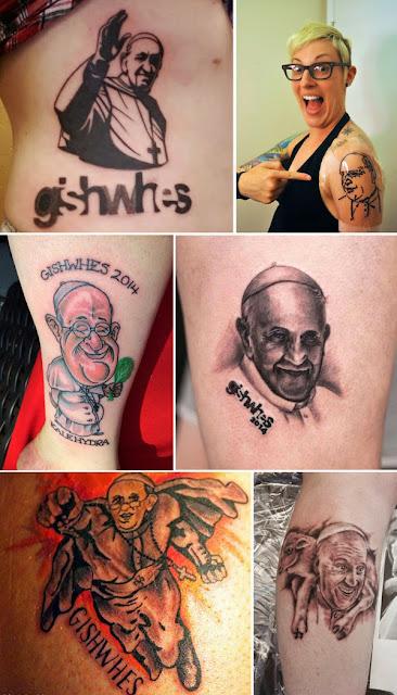 Tatuajes de el papa francisco