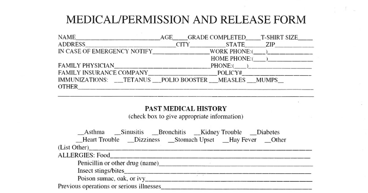 Work Release Form. Medical Release Form 19 30+ Medical Release