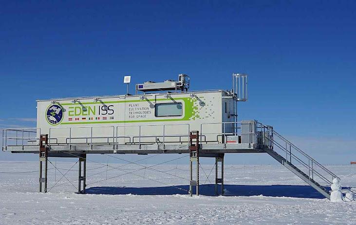 Módulo onde está sendo feito o cultivo na Antártica