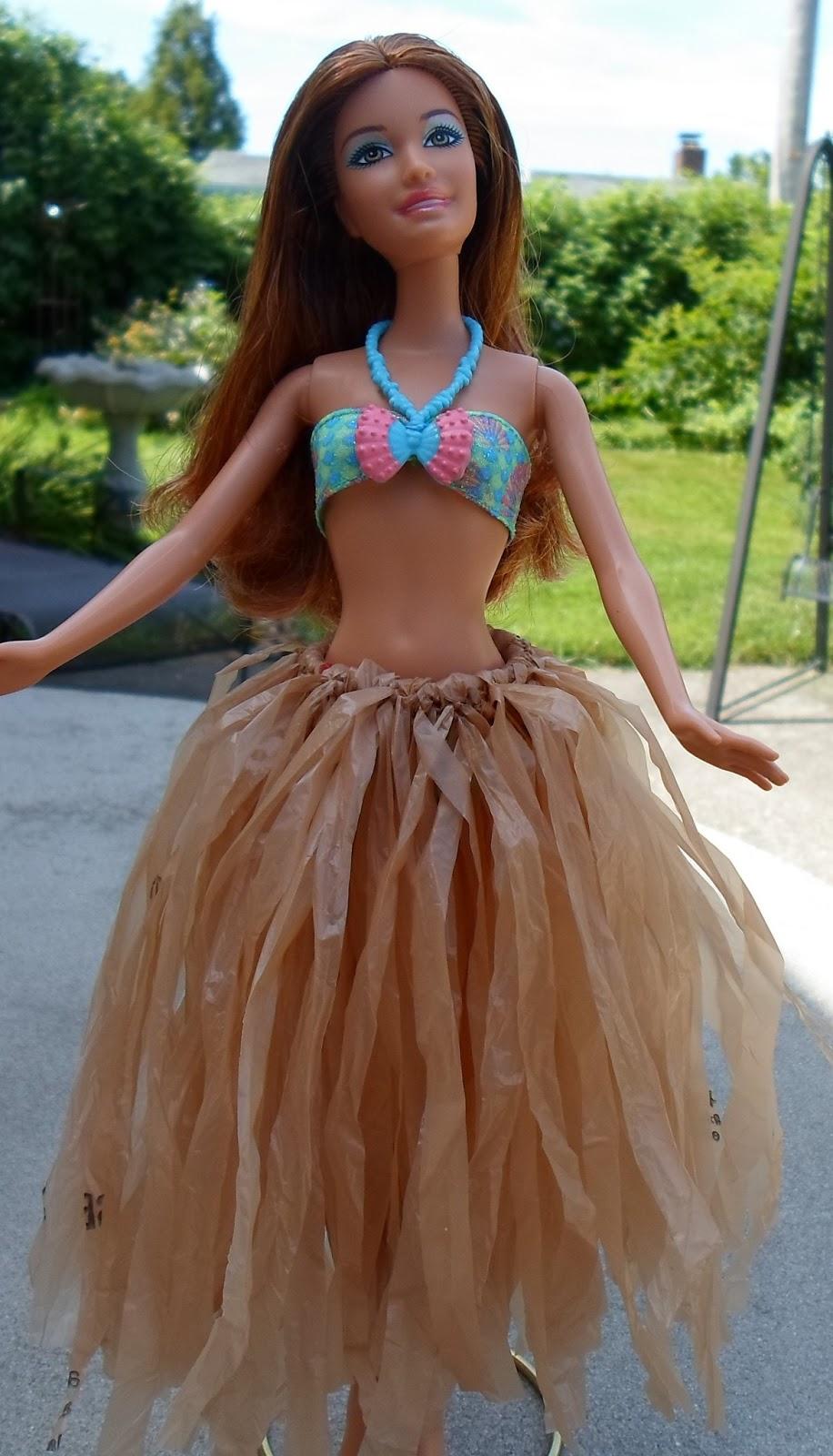 Plastic Bag Barbie Skirt