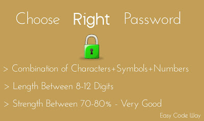 Correct Ways to Write Perfect Password