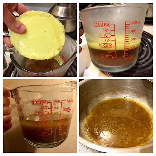 separating fat from beef stock