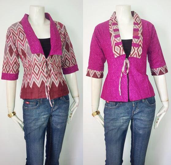 Baju Embos Kombinasi Batik: 10 Model Baju Batik Kombinasi Embos Terbaru 2018
