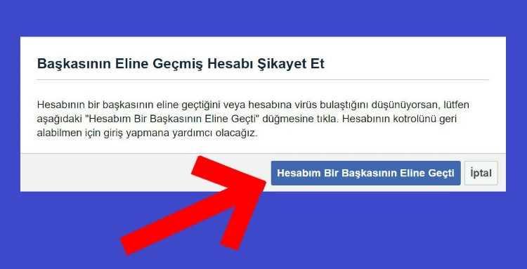 Facebook'un hacked sayfası çalınan hesaplar için geri bildirim gönderilmesini sağlıyor.