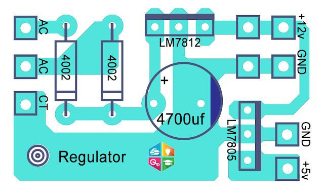 How to make 12Volt and 5 Volt DC Regulators