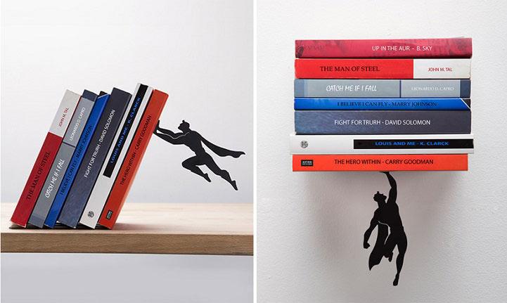"""Sujetalibros Superheroes """"salvan"""" a los libros de caerse"""