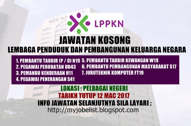 Jawatan Kosong Terkini di LPPKN Mac 2017