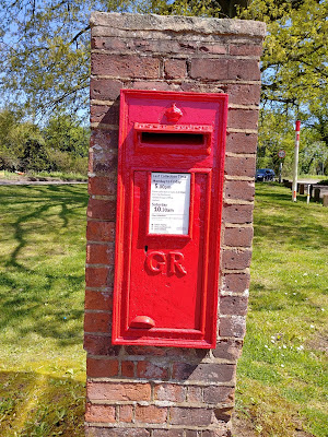 Photograph of Wall box VR at the top of Bell Lane at junction with the A1000 Great North Road, Bell Bar Image from the North Mymms History Project released under Creative Commons