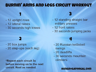 Burnin' Arms and Legs Circuit Workout from Hungry Gator Gal