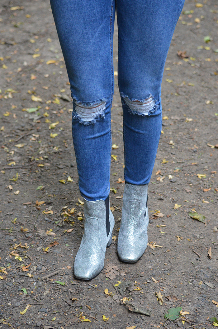 dune boots metallic fashion bloggers