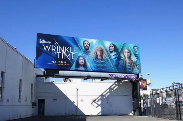 A Wrinkle in Time movie billboard