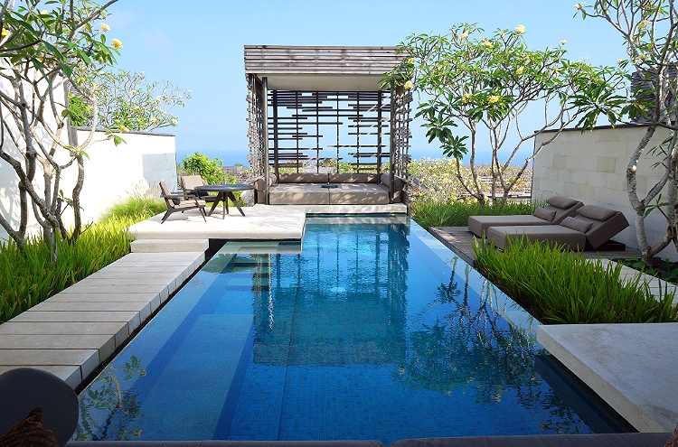 Euriental | fashion & luxury travel | Alila Villas Uluwatu, inside the villa - pool and cabana