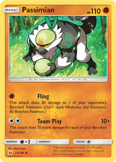 Passimian Sun and Moon Pokemon Card