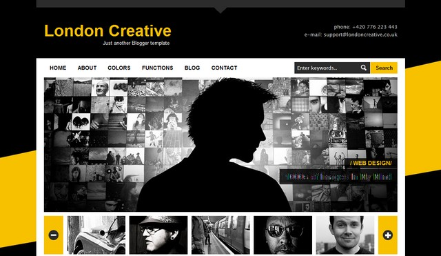 40+ latest free gallery style blogger templates 2018 » css author.