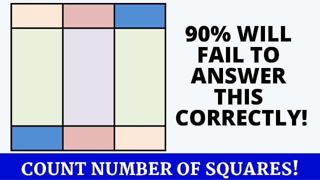 Can you count the number of squares in this picture?