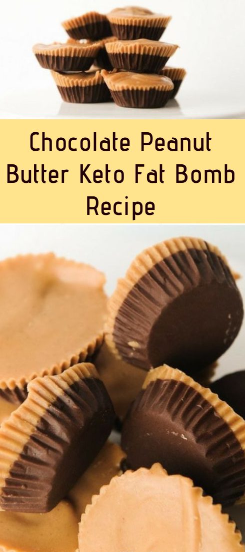 Chocolate Peanut Butter Keto Fat Bomb Recipe #chocolate #desserts