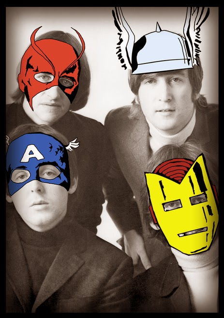 The Beatles As Superheroes