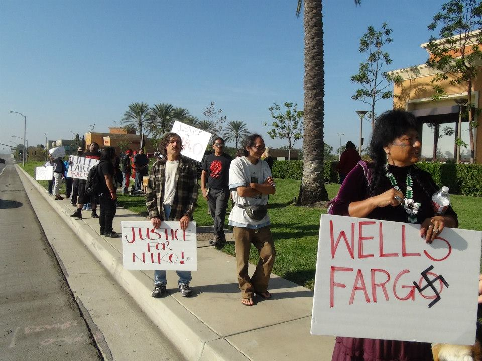 Censored News Aim Day Of Action Against Wells Fargo Justice For Niko